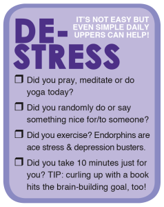 De-Stress Checklist