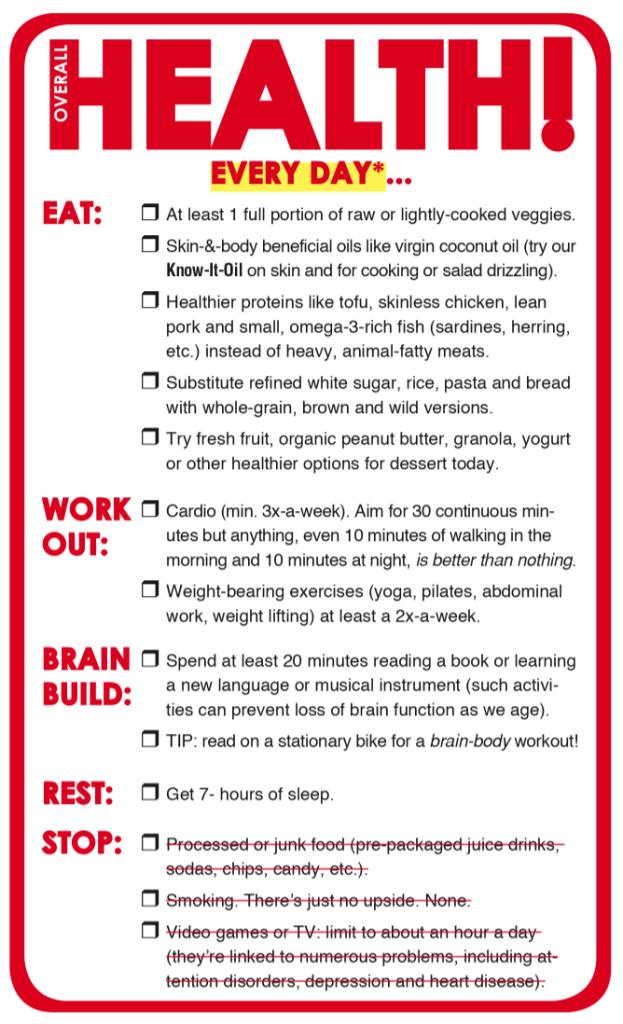 Overall Health Checklist