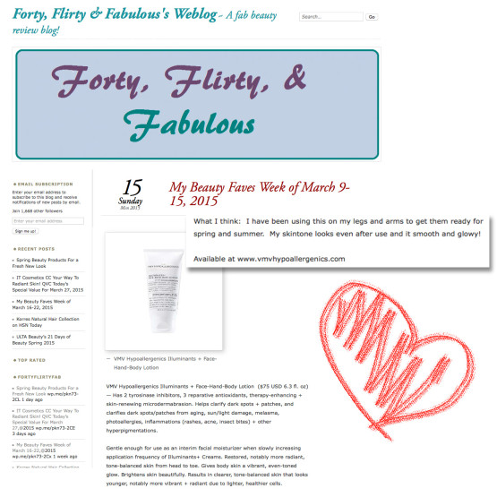 Illuminants+ Face-Hand-Body Lotion - Forty Flirty Fab