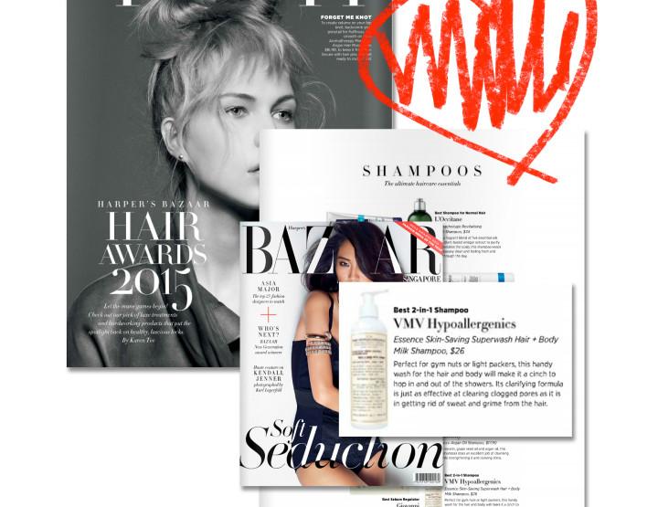 Essence Superwash Hair + Body Milk Shampoo WINS Best 2-in-1 Shampoo - Harper's Bazaar Singapore 2015 Hair Awards
