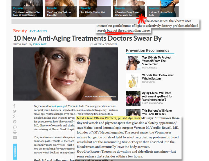Our Founding MD on Aging Procedures — Prevention Magazine