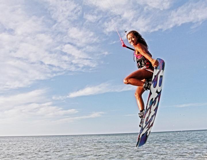 Paula Rosales, Kiteboarding