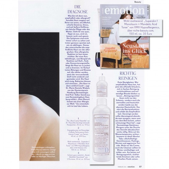 Superskin 1 Monolaurin + Mandelic Acid Toner - Emotion Magazine, Germany