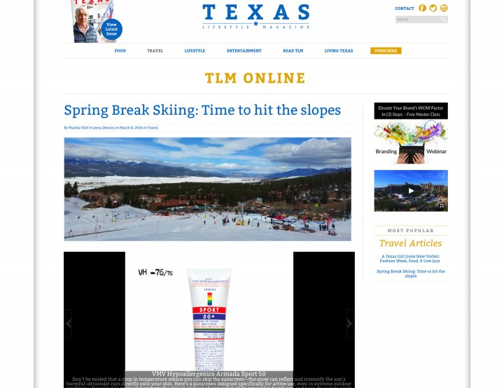 Armada Sport Sunscreen - Texas Lifestyle Magazine
