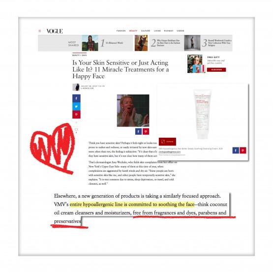 Red Better and VMV Hypoallergenics - Vogue