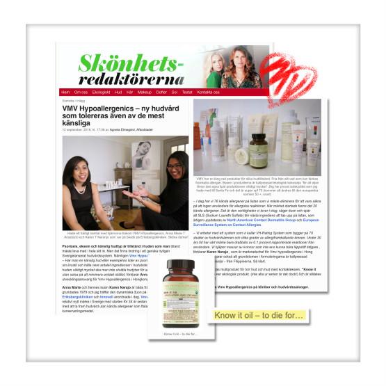 VMV Hypoallergenics - Aftonbladet, Sweden