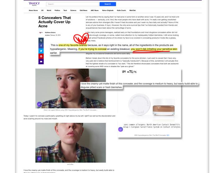 Skin-The-Bluff Concealer - XoJane.com & Yahoo News