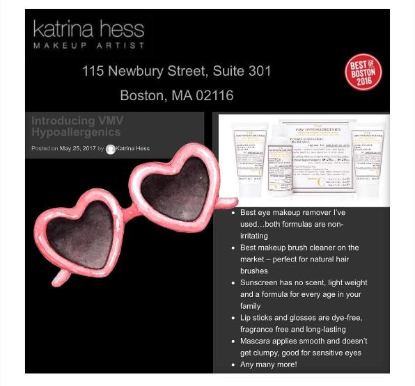 VMV Hypoallergenics Skin Care Line - Katrina Hess Makeup