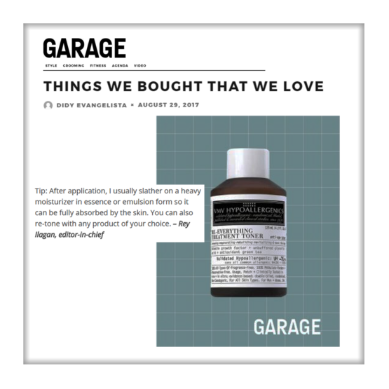 Re-Everything Toner and Armada Face Cover 60  –  Garage Magazine