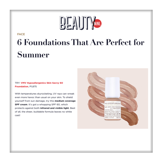 Skin Savvy 60 Foundation - BeautyMNL